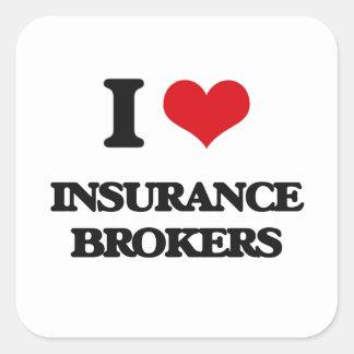 I love Insurance Brokers Sticker