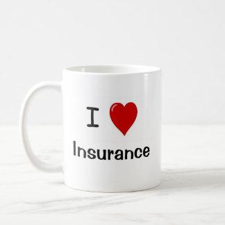 I Love Insurance - Insurance Loves Me Basic White Mug