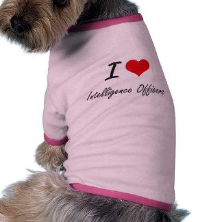 I love Intelligence Officers Ringer Dog Shirt