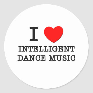 I Love Intelligent Dance Music Stickers