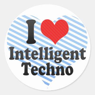 I Love Intelligent+Techno Stickers