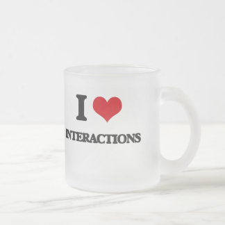 I Love Interactions 10 Oz Frosted Glass Coffee Mug
