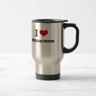 I Love Interactions Stainless Steel Travel Mug