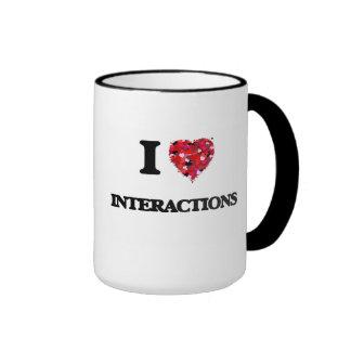 I Love Interactions Ringer Mug