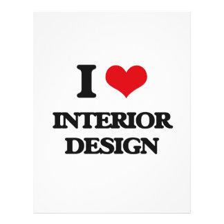 I Love Interior Design 21.5 Cm X 28 Cm Flyer