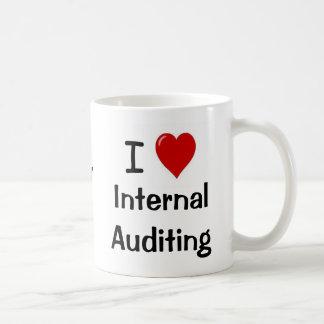 I Love Internal Auditing Intern. Auditing Heart Me Basic White Mug