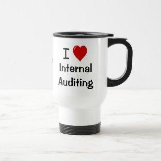 I Love Internal Auditing Intern. Auditing Heart Me Coffee Mug