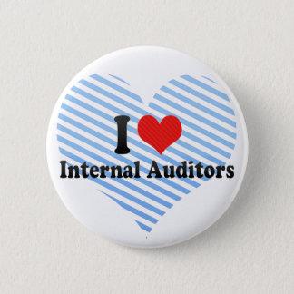 I Love Internal Auditors 6 Cm Round Badge