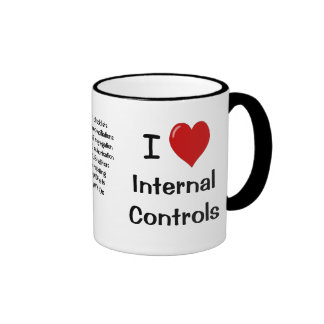 I Love Internal Controls - Triple Sided & Cheeky Ringer Mug