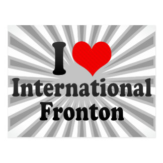 I love International Fronton Postcard