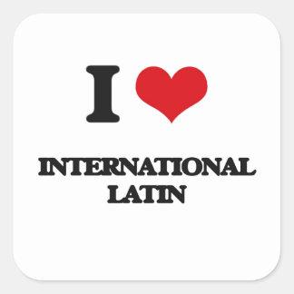 I Love INTERNATIONAL LATIN Sticker