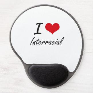 I Love Interracial Gel Mouse Pad