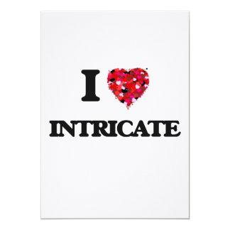 I Love Intricate 13 Cm X 18 Cm Invitation Card