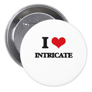 I Love Intricate Pinback Buttons