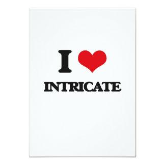 I Love Intricate 5x7 Paper Invitation Card