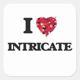 I Love Intricate Square Sticker