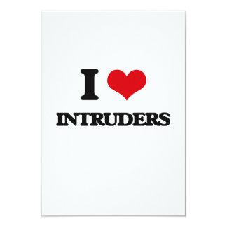 I Love Intruders Customized Announcement Cards