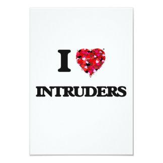 I Love Intruders 9 Cm X 13 Cm Invitation Card
