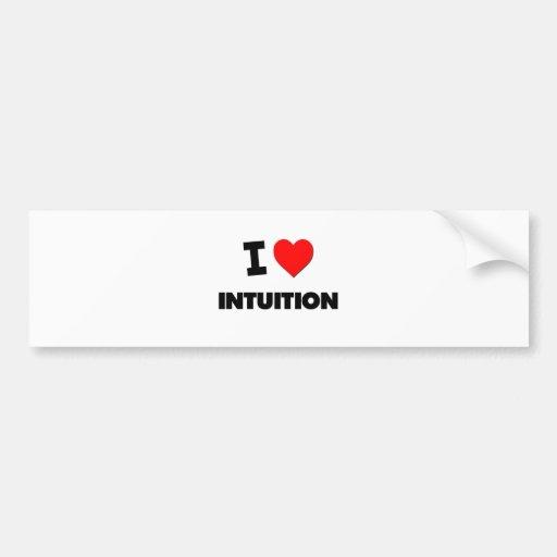 I Love Intuition Bumper Sticker