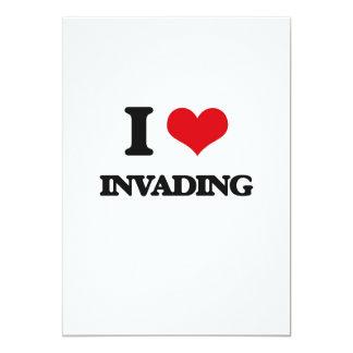 I Love Invading 13 Cm X 18 Cm Invitation Card