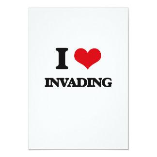 I Love Invading 9 Cm X 13 Cm Invitation Card