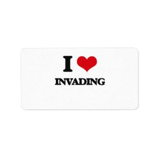 I Love Invading Address Label