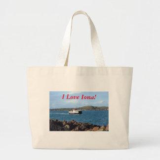 I Love Iona! Large Tote Bag