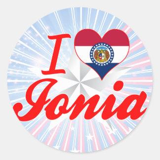 I Love Ionia, Missouri Round Stickers