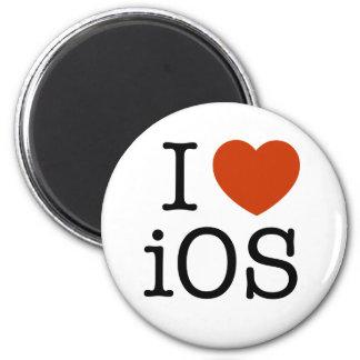 I love iOS - button 6 Cm Round Magnet