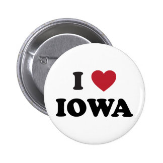 I Love Iowa 6 Cm Round Badge