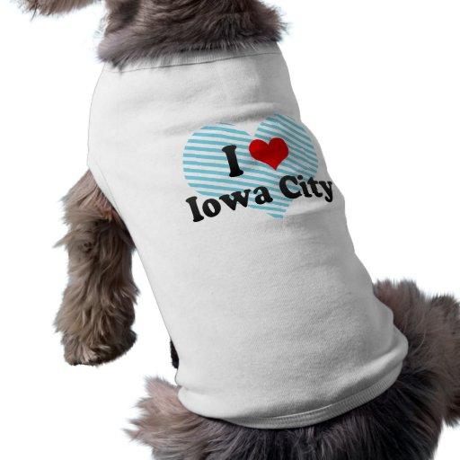 I Love Iowa City, United States Dog T Shirt
