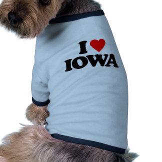 I LOVE IOWA DOG TEE SHIRT