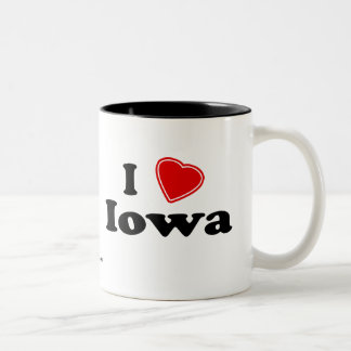 I Love Iowa Two-Tone Coffee Mug