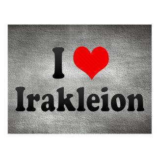 I Love Irakleion, Greece Postcard