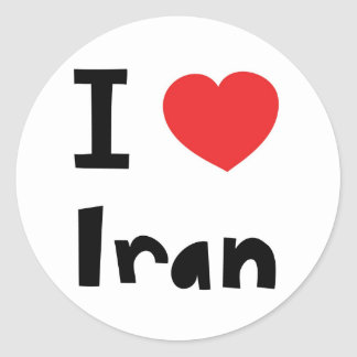 I love Iran Classic Round Sticker