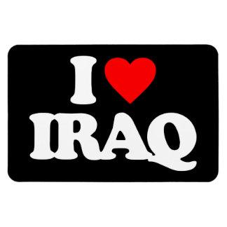 I LOVE IRAQ RECTANGULAR MAGNET