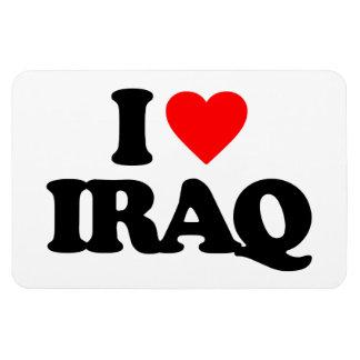 I LOVE IRAQ RECTANGLE MAGNET