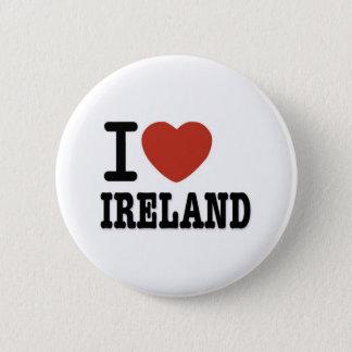 I LOVE IRELAND 6 CM ROUND BADGE