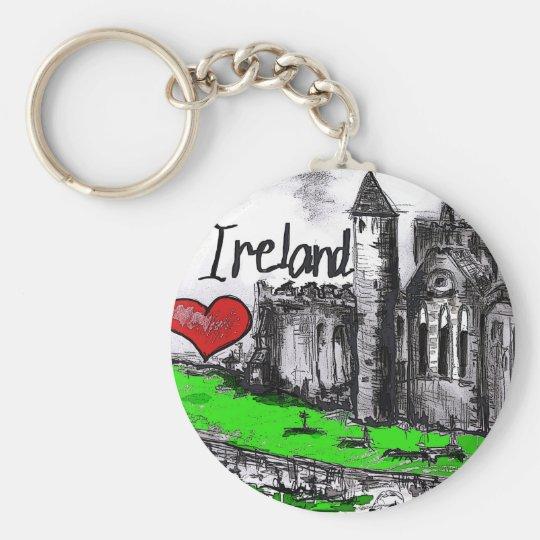 I love Ireland Basic Round Button Key Ring