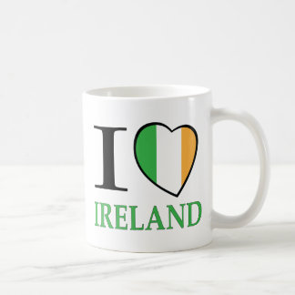 I Love Ireland Basic White Mug