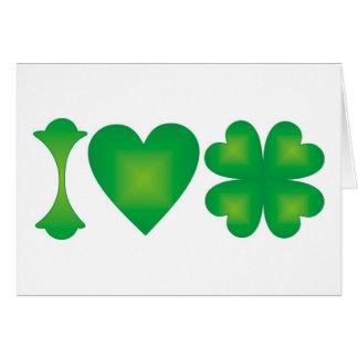 I Love Ireland Greeting Card