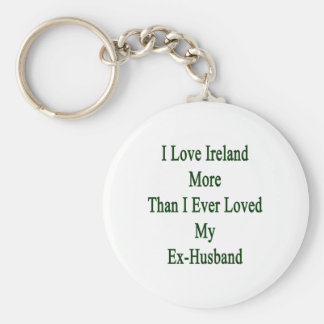 I Love Ireland More Than I Ever Loved My Ex Husban Basic Round Button Key Ring