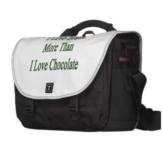 I Love Ireland More Than I Love Chocolate Laptop Messenger Bag