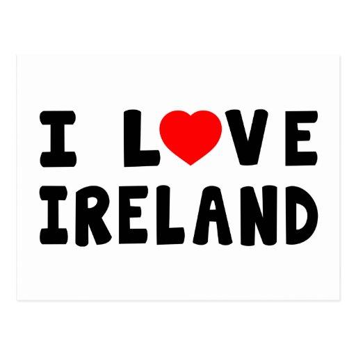 I Love Ireland Post Card