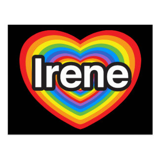 I love Irene. I love you Irene. Heart Postcard