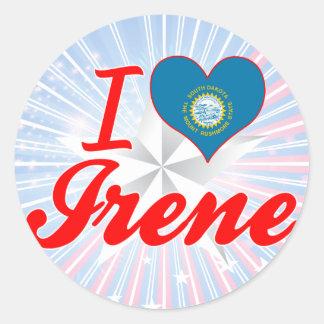 I Love Irene, South Dakota Round Sticker