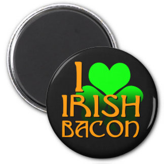 I Love Irish Bacon Refrigerator Magnet