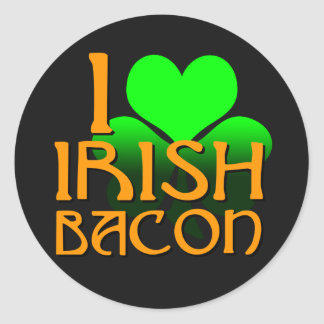 I Love Irish Bacon Stickers