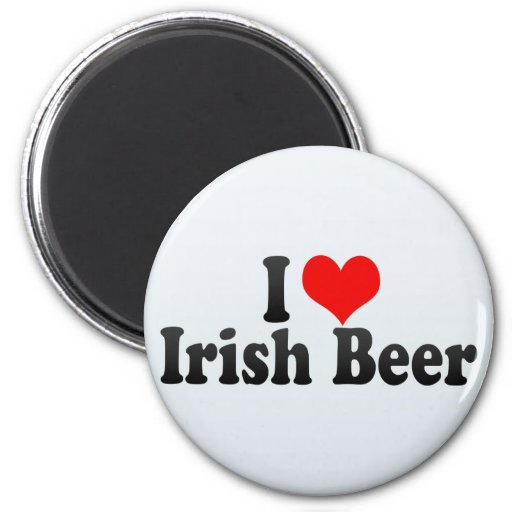 I Love Irish Beer Fridge Magnets