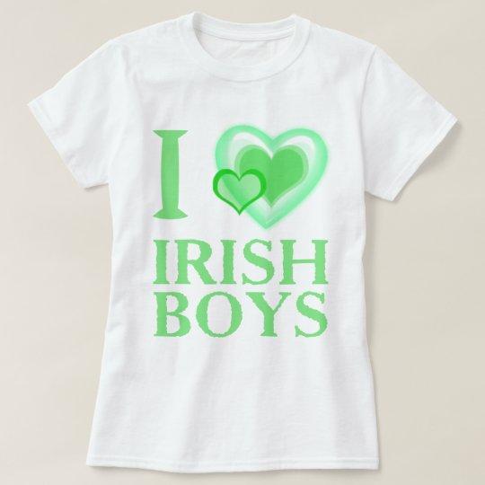 I Love Irish Boys Ladies Baby Doll T-Shirt